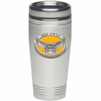 Kennesaw State Owls Yellow Stainless Steel Travel Mug w/ Pewter Accent