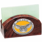 Kennesaw State Owls Yellow Wood Business Card Holder w/ Pewter Accent