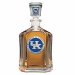 Kentucky Wildcats Blue Logo Capitol Glass Decanter with Pewter Accents