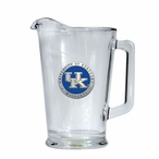 Kentucky Wildcats Blue Logo Glass Pitcher with Pewter Accent