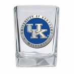 Kentucky Wildcats Blue Logo Pewter Accent Shot Glasses, Set of 4