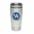Kentucky Wildcats Blue Logo Stainless Steel Travel Mug with Pewter