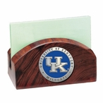 Kentucky Wildcats Blue Logo Wood Business Card Holder w/ Pewter Accent