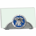 Kentucky Wildcats Blue Metal Business Card Holder with Pewter Accent