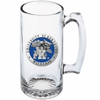 Kentucky Wildcats Blue Pewter Accent Glass Super Beer Mug