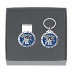 Kentucky Wildcats Blue Pewter Accent Money Clip & Key Chain Gift Set