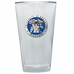 Kentucky Wildcats Blue Pewter Accent Pint Beer Glasses, Set of 2