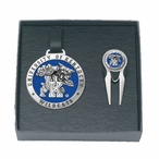 Kentucky Wildcats Blue Pewter Bag Tag & Repair Tool Golf Set