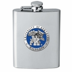 Kentucky Wildcats Blue Stainless Steel Flask with Pewter Accent