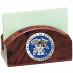 Kentucky Wildcats Blue Wood Business Card Holder with Pewter Accent
