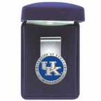Kentucky Wildcats Logo Blue Pewter Accent Steel Money Clip