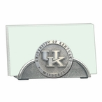 Kentucky Wildcats Logo Metal Business Card Holder with Pewter Accent
