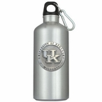 Kentucky Wildcats Logo Pewter Accent Stainless Steel Water Bottle