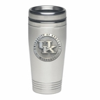 Kentucky Wildcats Logo Stainless Steel Travel Mug with Pewter Accent