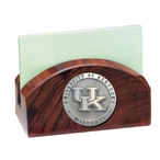 Kentucky Wildcats Logo Wood Business Card Holder with Pewter Accent