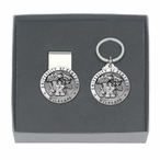 Kentucky Wildcats Pewter Accent Money Clip & Key Chain Gift Set