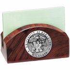 Kentucky Wildcats Wood Business Card Holder with Pewter Accent