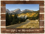 Life's an Adventure Wrapped Canvas Giclee Art Print on Wood Pallet