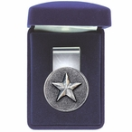 Lone Star Steel Money Clip with Pewter Accent