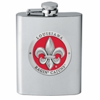 Louisiana at Lafayette Ragin' Cajuns Red Flask with Pewter Accent