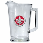 Louisiana at Lafayette Ragin' Cajuns Red Glass Pitcher with Pewter