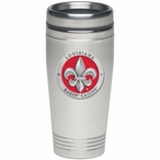 Louisiana at Lafayette Ragin' Cajuns Red Travel Mug with Pewter Accent