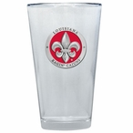 Louisiana at Lafayette Red Pewter Accent Pint Beer Glasses, Set of 2
