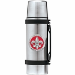 Louisiana at Lafayette Red Pewter Accent Stainless Steel Thermos