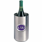 Louisiana State Purple Pewter Stainless Steel Wine Bottle Chiller