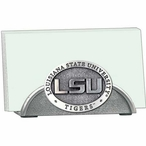 Louisiana State Tigers Metal Business Card Holder with Pewter Accent