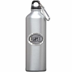 Louisiana State Tigers Pewter Accent Stainless Steel Water Bottle