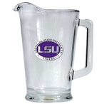Louisiana State Tigers Purple Glass Pitcher with Pewter Accent