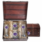 Louisiana State Tigers Purple Pewter Accent Beer Chest Box Set
