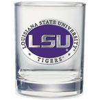 Louisiana State Tigers Purple Pewter Accent DOF Glasses, Set of 2