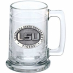 Louisiana State University Tigers Pewter Accent Glass Beer Mug