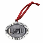 Louisiana State University Tigers Pewter Accent Ornaments, Set of 2