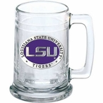Louisiana State University Tigers Purple Pewter Accent Glass Beer Mug