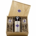 Louisiana State University Tigers Purple Pewter Accent Wine Box Set