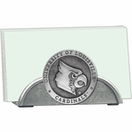 Louisville Cardinals Metal Business Card Holder with Pewter Accent