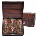 Louisville Cardinals Red Pewter Accent Beer Chest Box Set