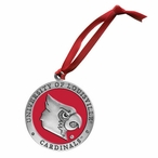 Louisville Cardinals Red Pewter Accent Ornaments, Set of 2