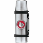 Louisville Cardinals Red Pewter Accent Stainless Steel Thermos