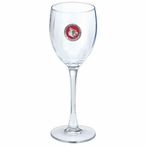 Louisville Cardinals Red Pewter Accent Wine Glass Goblets, Set of 2