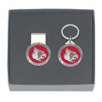 Louisville Cardinals Red Pewter Money Clip & Key Chain Gift Set