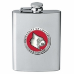 Louisville Cardinals Red Stainless Steel Flask with Pewter Accent