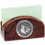 Louisville Cardinals Wood Business Card Holder with Pewter Accent