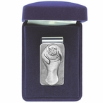 Manatee Steel Money Clip with Pewter Accent