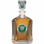 Marshall Thundering Herd Green Capitol Glass Decanter with Pewter