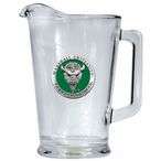 Marshall Thundering Herd Green Glass Pitcher with Pewter Accent