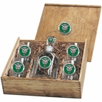 Marshall Thundering Herd Green Pewter Accent Capitol Decanter Box Set